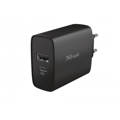 TRUST nabíječka Qmax 30W Ultra-Fast USB-C & USB Wall Charger with PD