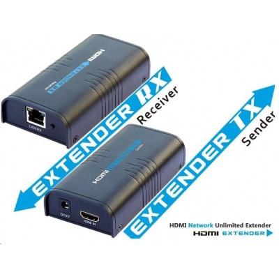 PREMIUMCORD HDMI extender na 120m přes LAN, over IP