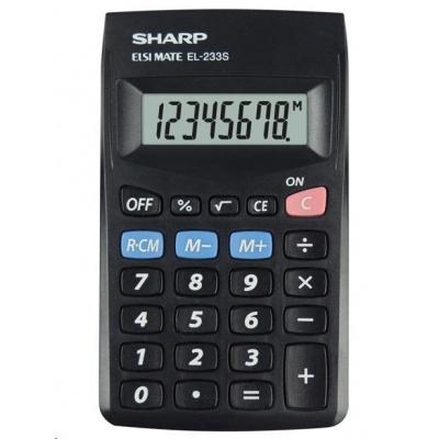 SHARP kalkulačka - EL-233SBBK - blister