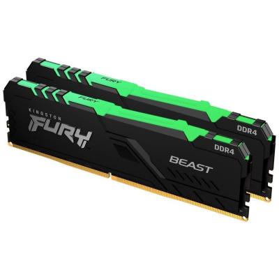 DIMM DDR4 32GB 3000MHz CL15 (Kit of 2) 1Gx8 KINGSTON FURY Beast RGB
