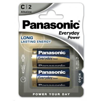 PANASONIC Alkalické baterie Everyday Power  LR14EPS/2BP C 1,5V (Blistr 2ks)