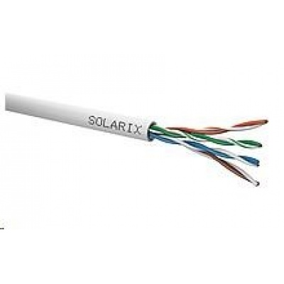 Instalační kabel Solarix UTP, Cat5E, drát, PVC, box 500m SXKD-5E-UTP-PVC