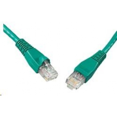 Solarix Patch kabel CAT5E UTP PVC 5m zelený snag-proof C5E-114GR-5MB