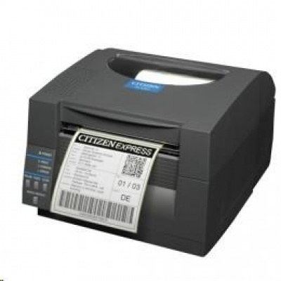 Citizen CL-S521II, 8 dots/mm (203 dpi), EPL, ZPL, Datamax, multi-IF (Ethernet), black