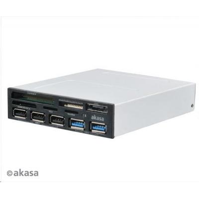 AKASA čtečka karet AK-ICR-16, 5ti slotová, s podporou SDXC, 3x USB2.0 +2x USB3.0 port, interní