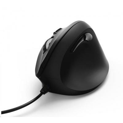 Hama vertikálna ergonomická bezdrôtová myš EMW-500, 6 tlačidiel, čierna