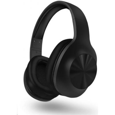 HYPERBASS bezdrátová sluchátka s mikrofonem BASS+, bluetooth, černá