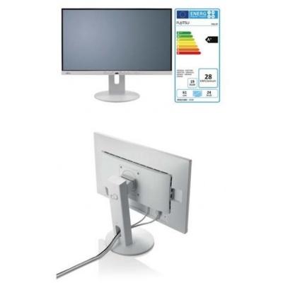 """FUJITSU LCD P24-9 TE IPS 23.8"""" matný, 1920x1080, 250cd, 5ms, DP, HDMI, DSUB, repro 2x2W, 4xUSB, USB-C,V10x10, PIVOT bílý"""