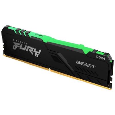 KINGSTON FURY Beast 16GB 3733MHz DDR4 CL19 DIMM 1Gx8 RGB