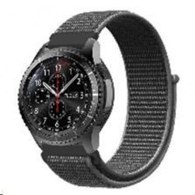 eses nylonový řemínek tmavě olivový na suchý zip pro samsung galaxy watch 46mm/samsung gear s3