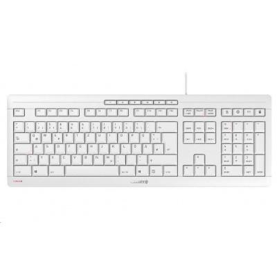 CHERRY klávesnice STREAM, USB, EU, světle šedá