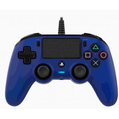 Nacon Wired Compact Controller - ovladač pro PlayStation 4 - modrý