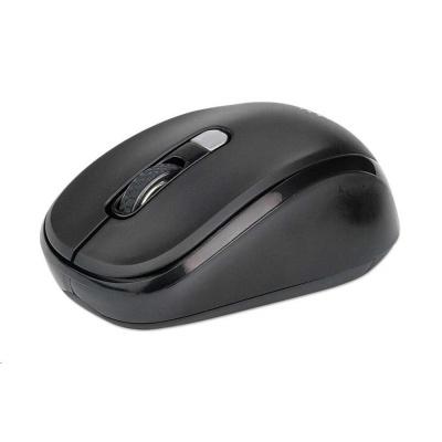 MANHATTAN Myš Performance Wireless Optical Mouse II, USB optická, 800/1200/1600 dpi, černá