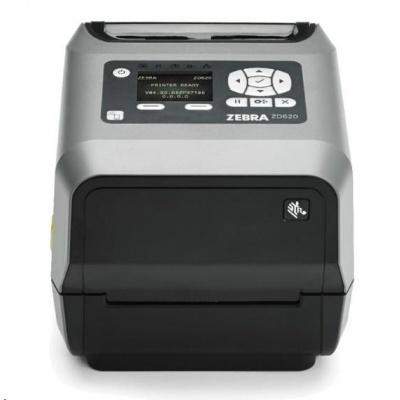 "Zebra TT tiskárna etiketZD620t 4"" LCD 203 dpi, USB, USB Host, RS232,LAN, 802.11, BT, řezačka, ROW"
