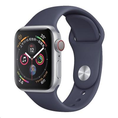 COTEetCI silikonový sportovní náramek pro Apple watch 42 / 44 mm půlnoční modrá