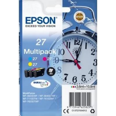 "EPSON ink Multipack 3-colour ""Budík"" 27 DURABrite Ultra Ink"