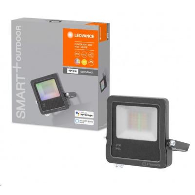 LEDVANCE SMART+ OUTDoor WIFI FLOOD RGBW 20W IP65 1260lm 3000K Dark Gray