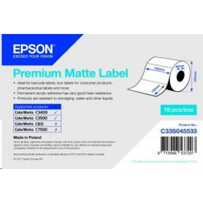 Epson label roll, normal paper, 102x152mm