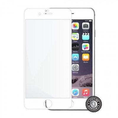ScreenShield ochrana displeje Tempered Glass pro Apple iPhone 6 Plus / 6S Plus, bílá