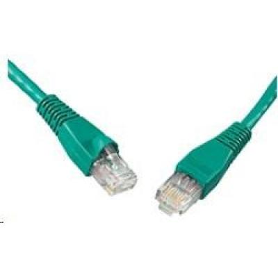 Solarix Patch kabel CAT6 UTP PVC 1m zelený snag-proof C6-114GR-1MB
