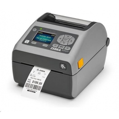 Zebra DT tiskárna etiket ZD620d, LCD, 203 dpi, USB, USB Host, Serial, LAN, 802.11, BT, řezačka, ROW