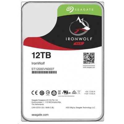 "SEAGATE HDD IRONWOLF (NAS) 3,5"" - 12TB, SATAIII, ST12000VN0008"