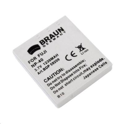 Braun akumulátor FUJI NP-40, PENTAX D-Li85/8, Panasonic S004, Samsung SLB-0837, Minolta NP-1, 680mAh