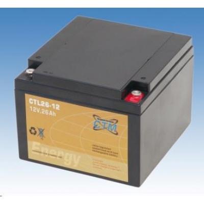Baterie - CTM CTL 26-12 (12V/26Ah - M5), životnost 10-12let