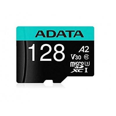 ADATA MicroSDXC karta 128GB Premier Pro UHS-I V30S (R:100/W:80 MB/s) + SD adaptér