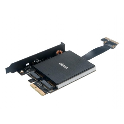 AKASA adaptér Dual pro M.2 PCIe s RGB LED a chladičem