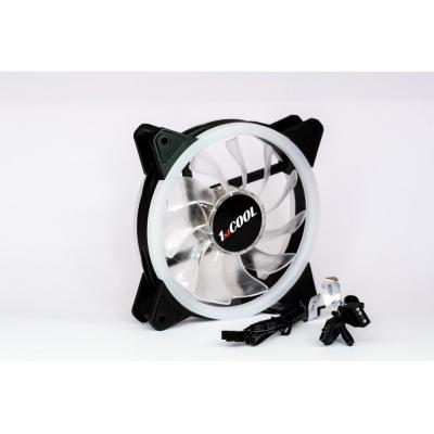1stCOOL Fan AURA EVO Dual Ring ARGB ventilátor 12cm