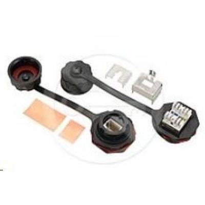 Solarix Průmyslový zásuvkový modul CAT6 STP 1 x RJ45 IP67 SXKJ-IN-6-STP-BK