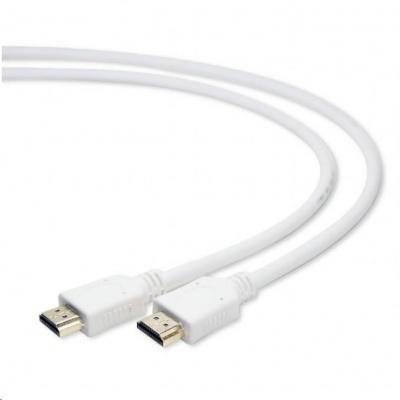 GEMBIRD Kabel CABLEXPERT HDMI-HDMI 1m, 1.4, M/M stíněný, zlacené kontakty, bílý