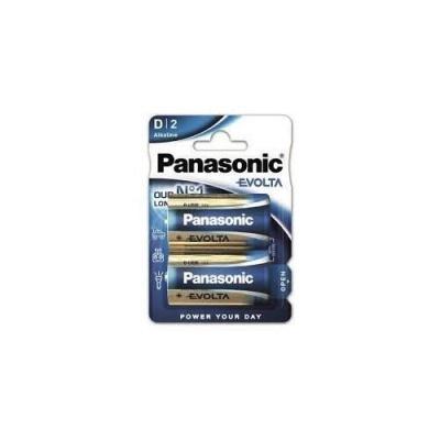 PANASONIC Alkalické baterie EVOLTA Platinum LR20EGE/2BP D 1,5V (Blistr 2ks)