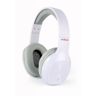 GEMBIRD sluchátka s mikrofonem Miami, Bluetooth, mikrofon, bílá