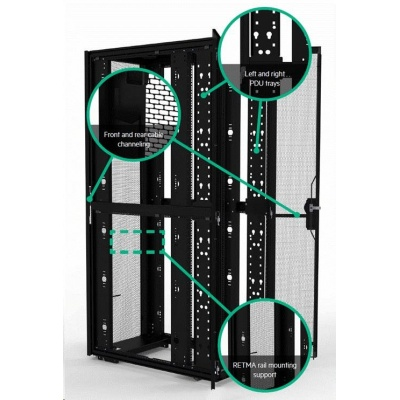 HPE 42U 800mmx1075mm G2 Enterprise Shock Rack