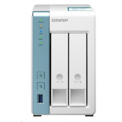 QNAP TS-231K (4C/AL-214/1,7GHz/1GBRAM/2xSATA/2xGbE/3xUSB3.2)