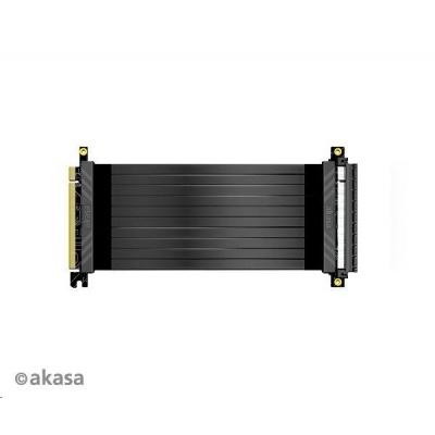 AKASA kabel RISER BLACK X2 Premium PCIe 3.0 x 16 Riser, 100cm