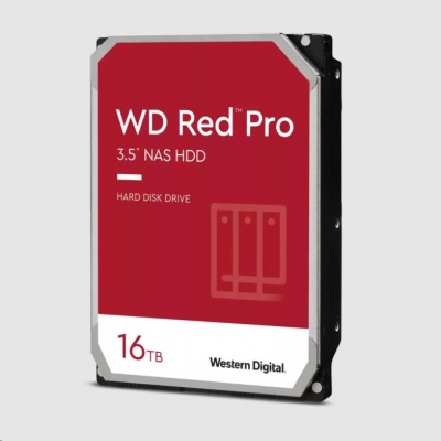 WD RED Pro NAS WD161KFGX 16TB SATAIII/600 512MB cache, 259 MB/s, CMR