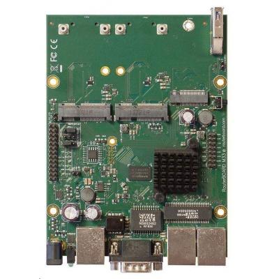 MikroTik RouterBOARD RBM33G, dual-core 880MHz, 256MB DDR3, 3x GLAN, 2x mini-PCIe, 2xSIM slot, 1xM.2, USB, RS232, vč. L4