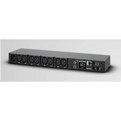 CyberPower Rack PDU, Switched & Metered, 1U, 16A, (8)C13, IEC-320 C20