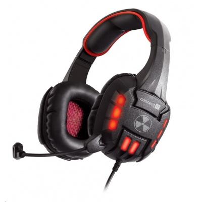 CONNECT IT BIOHAZARD herní sluchátka s mikrofonem, zelená