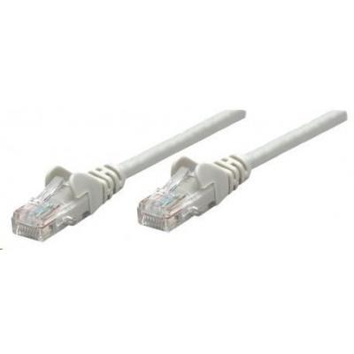Intellinet patch kabel, Cat6 Certified, CU, UTP, PVC, RJ45, 15m, šedý