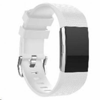 eses silikonový řemínek bílý velikost S pro Fitbit Charge 2