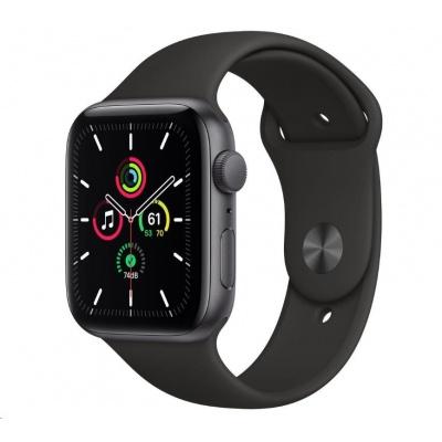 APPLE Watch SE GPS, 44mm vesmírně šedé hliníkové pouzdro + černý sport řemínek