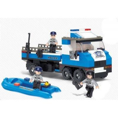 Sluban B-0186 Policejní náklaďák se člunem 202 dílků