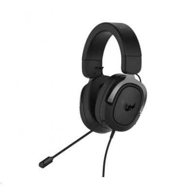 ASUS sluchátka TUF Gaming H3 Gun Metal, Gaming Headset, černo-šedá