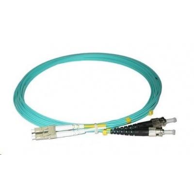Duplexní patch kabel MM 50/125, OM3, LC-ST, LS0H, 10m