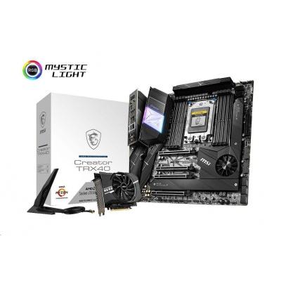 MSI MB Sc sTRX4 Creator TRX40 (AMD TRX40, 8xDDR4, E-ATX, Wi-Fi) součástí balení M2 rozšiřující karta