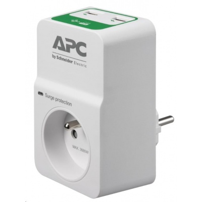 APC Essential SurgeArrest 1 outlets with 5V, 2.4A 2 port USB charger, 230V France